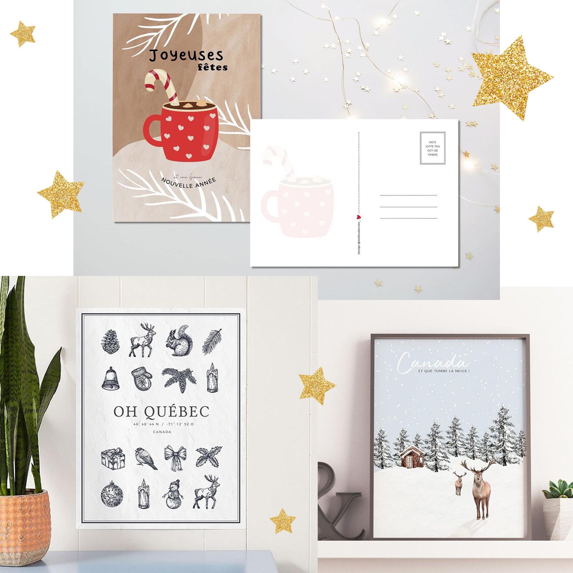 idée cadeau affiche carte postale